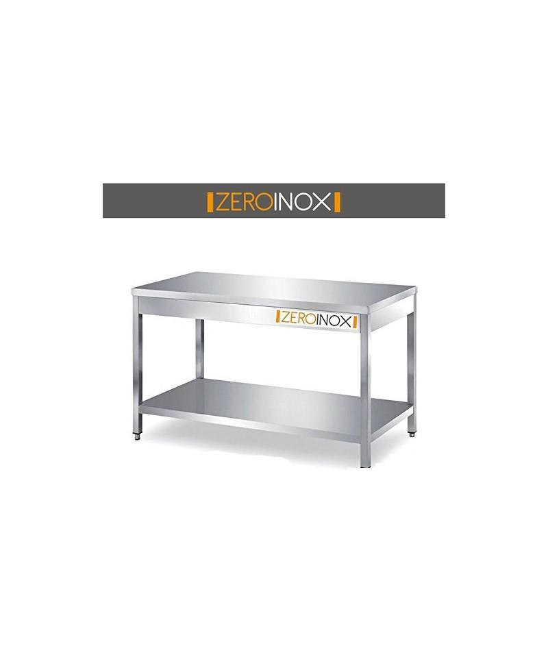Tavolo da lavoro con sottopiano profondita 60 acciaio inox for Arredo inox