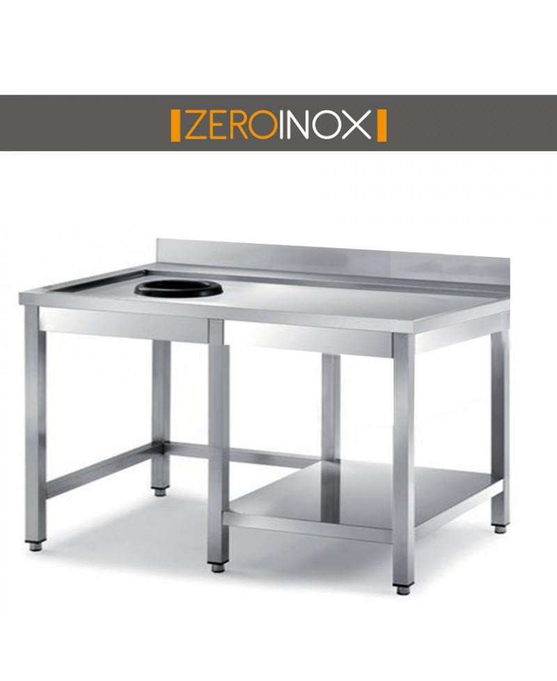 Tavolo cernita con foro profondita 70 cm acciaio inox aisi 304 for Arredo inox